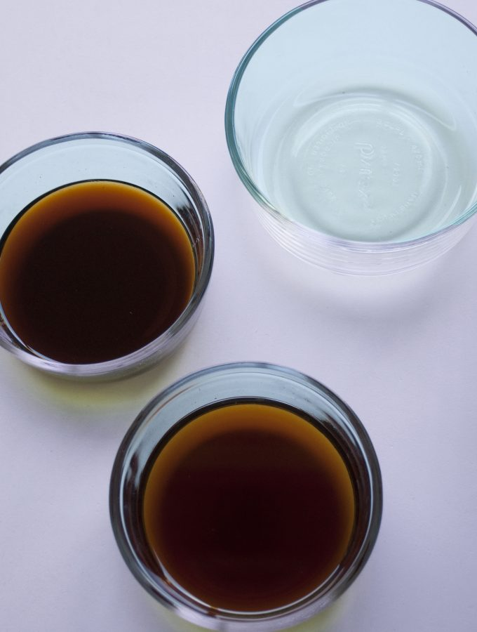 Here is a summary of commonly used Japanese Dressings that are made using vinegar / citrus as a base. Once you remember the proportions, all you need to do is to come up with a good combination of vegetables, seaweed and protein.
