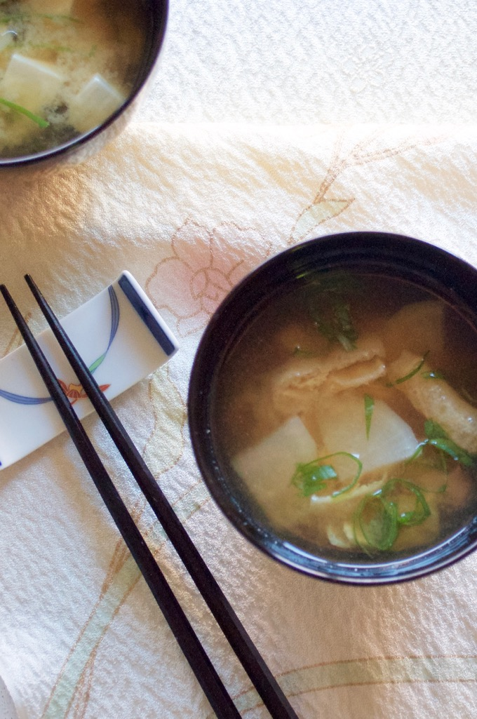 Tofu miso soup and daikon miso soup are very popular among Japanese. They are so simple to make!