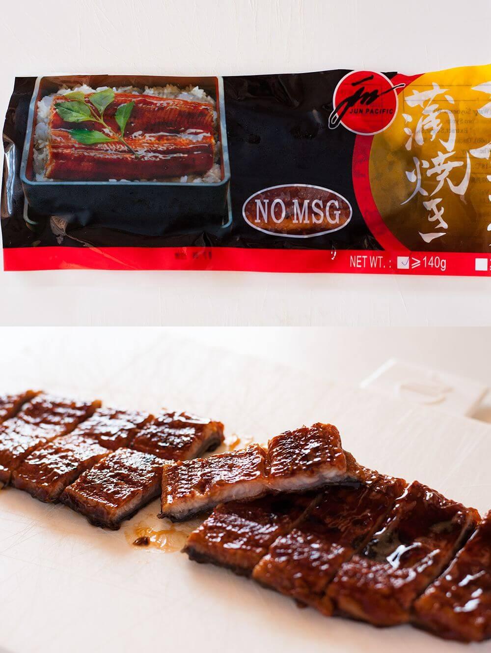 Unagi no kabayaki (flavoured grilled eel)