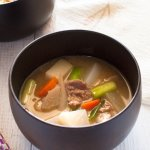 Tonjiru (豚汁) is a hearty miso soup with pork slices and vegetables. Packed with loads of vegetables and a small amount of pork, tonjiru is quite filling but you will be surprised to know the calories in tonjiru are low. It is considered to be a winter dish in Japan but I can't see why we shouldn't have it all year round. It's delicious.