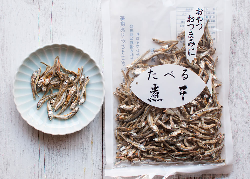 Dried anchovies for nibbles