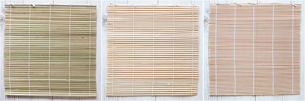 Bamboo rolling matt to make sushi rolls.