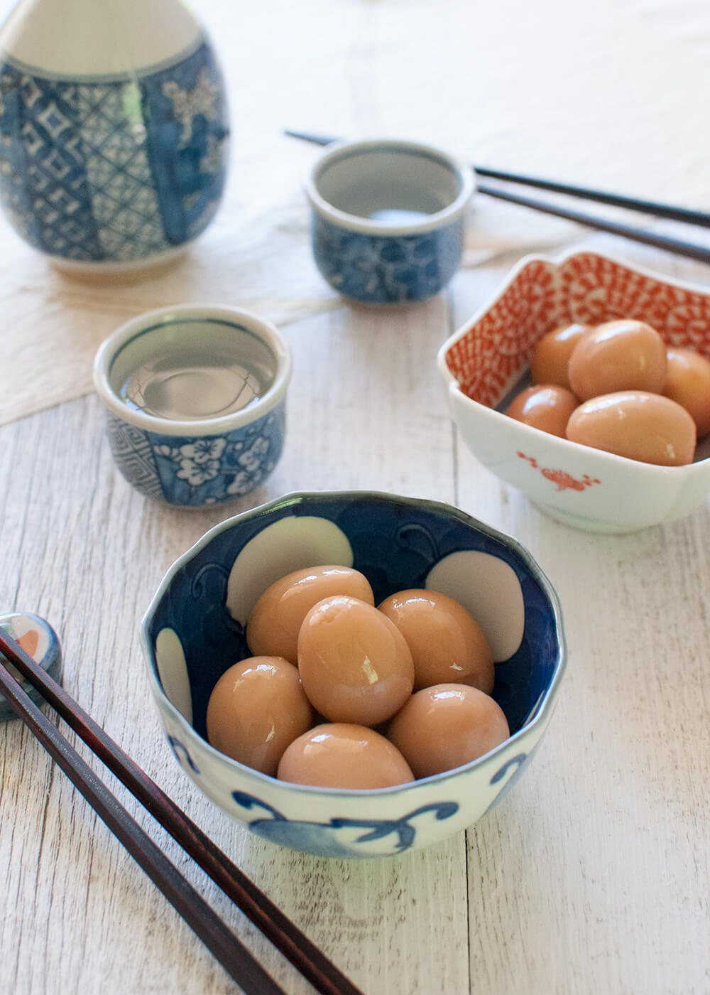 Marinated Quail Eggs are often served at izakaya (Japanese-style tavern) as a small appetiser as soon as you are seated. Marinated in sweet soy-flavoured sauce, they are surprisingly tasty and also surprisingly easy to make.