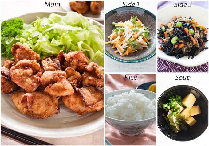 Dinner idea with Karaage Chicken