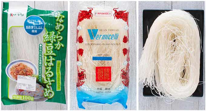 Japanese vermicelli and Chinese vermicelli.