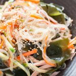 Zoomed-in photo of Japanese Vermicelli Salad.