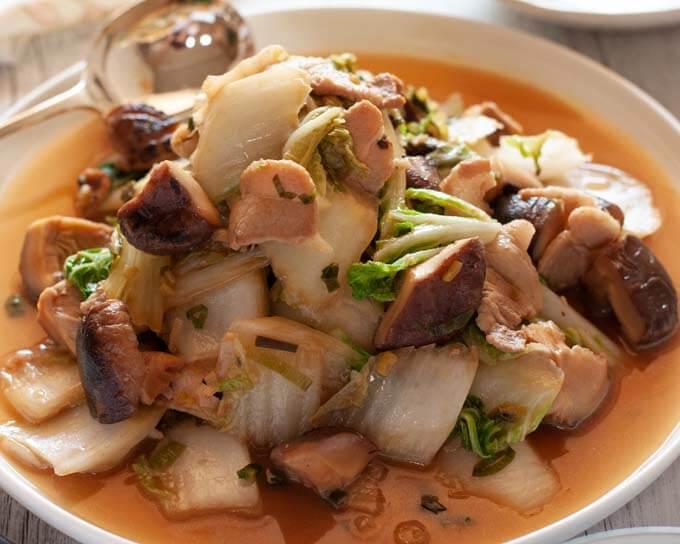 Chinese Cabbage Stir Fry With Pork Recipetin Japan