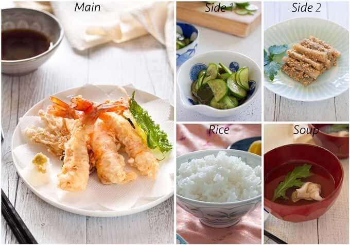 Meal idea with Japanese Clear Soup with Whiting.