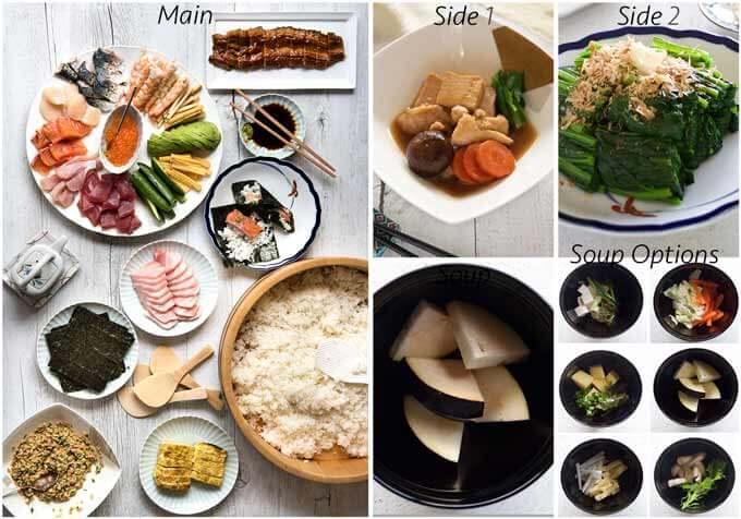 Meal idea with Kanazawa-style Simmered Chicken and Tofu (Jibuni).