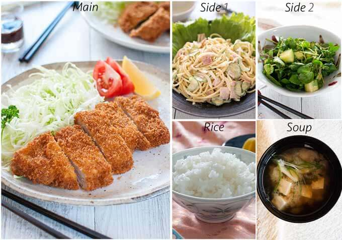 Menu idea with Japanese Pasta Salad.