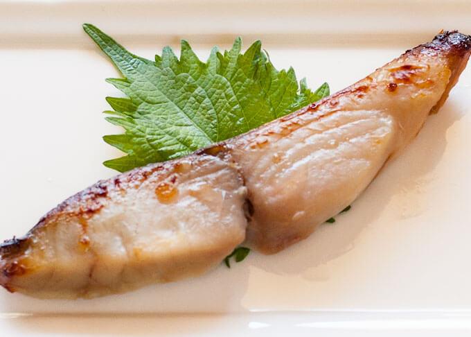Saikyo Yaki Fish - Spanish mackerel.