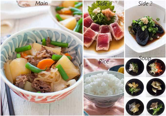 Menu idea with Tuna Tataki.