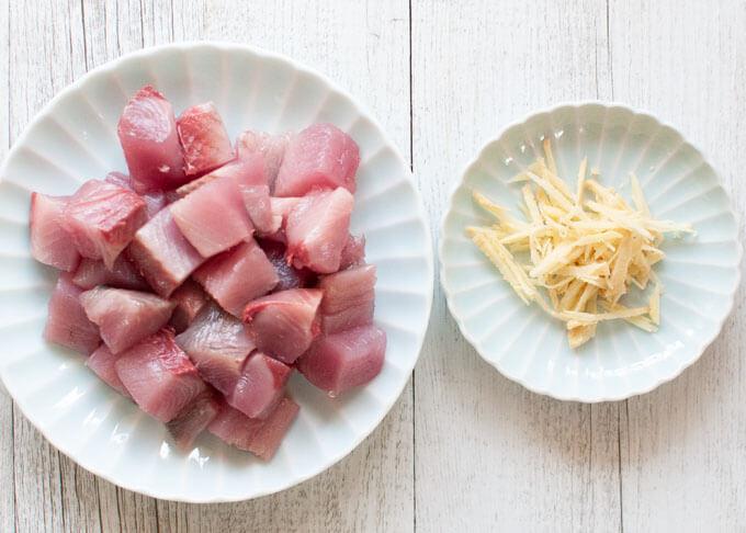 Ingredients of Bonito Kakuni.