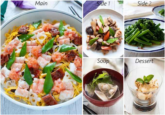 Meal idea with Clear Soup with Clam.