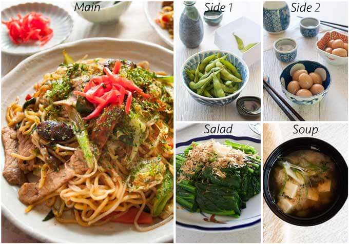 Menu idea with Yakisoba.