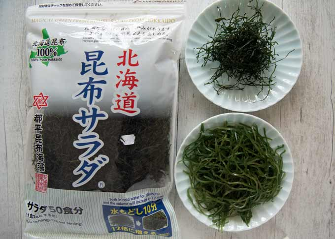 Sample photo of store-bought dried kiri konbu.