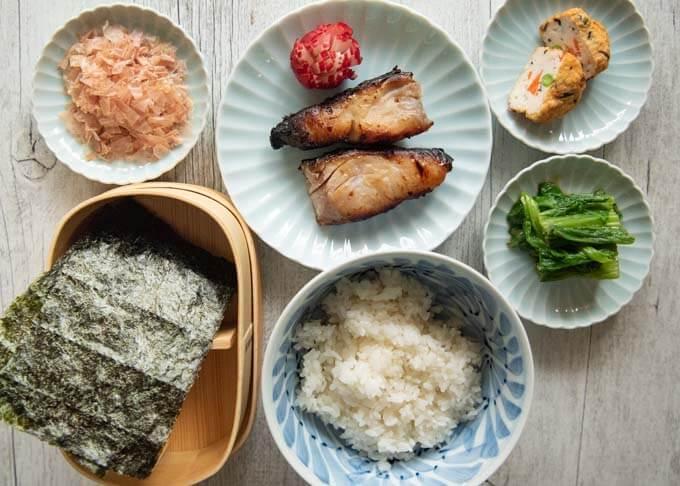 Ingredients of Nori Bento.