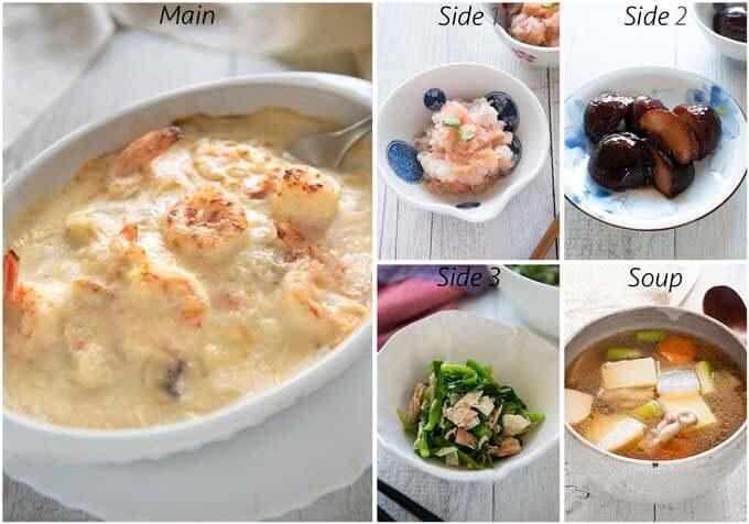 Dinner idea with Prawn Doria.