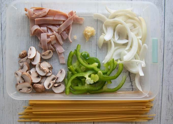 Napolitan ingredients.