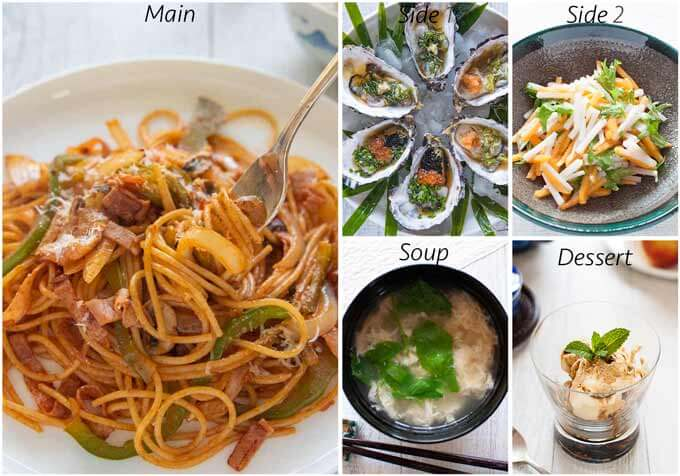 Dinner idea with Spaghetti Napolitan.
