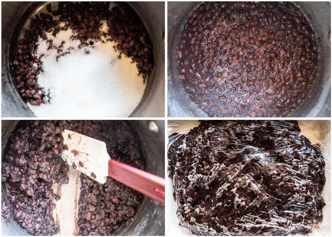 Step-by-step photo of how to make Anko.