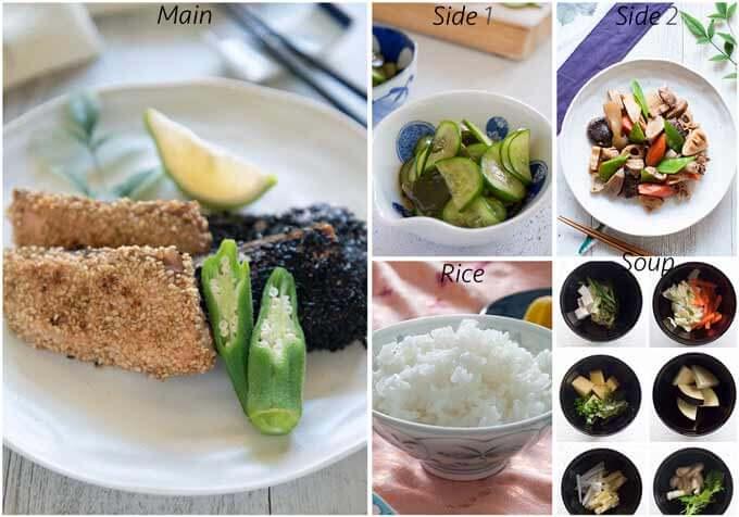 Dinner idea with Rikyū-age Salmon.