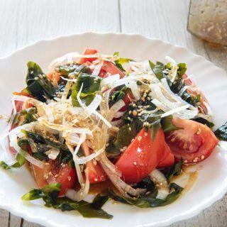 Hero shot of Tomato and Seaweed Salad.