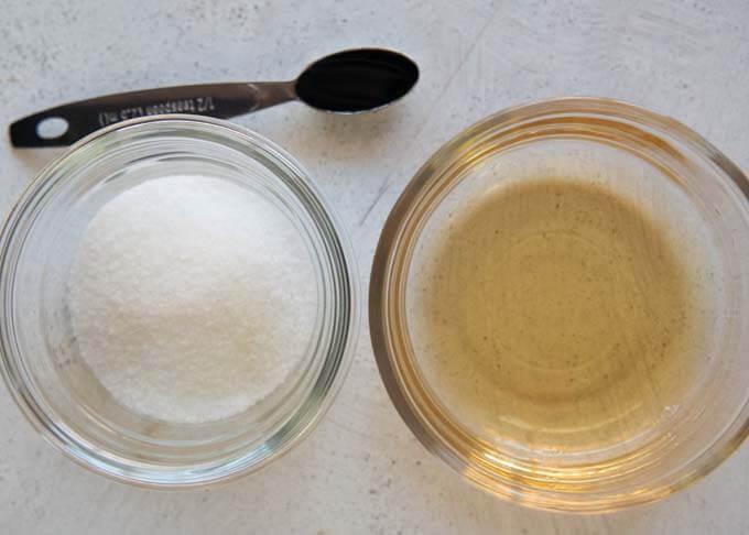 Ingredients for Sweet Vinegar Dressing (Amazu).