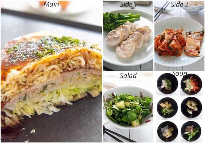 MEal idea with Hiroshima Okonomiyaki.