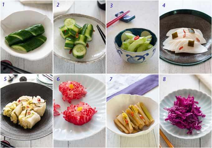 List of pickled vegetable dishes.