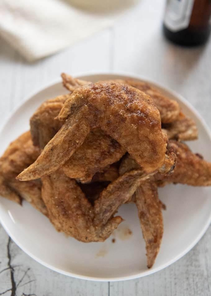 Hero shot of Yamachan-style freid chicken wings.