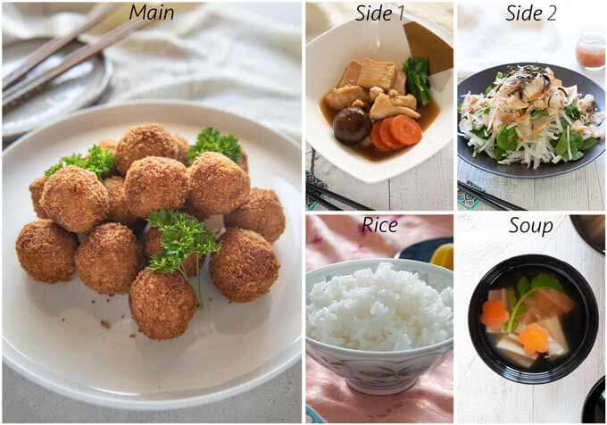 Meal idea with Pumpkin Croquettes.