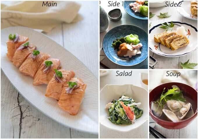 MEal idea with Aburi Salmon sushi.