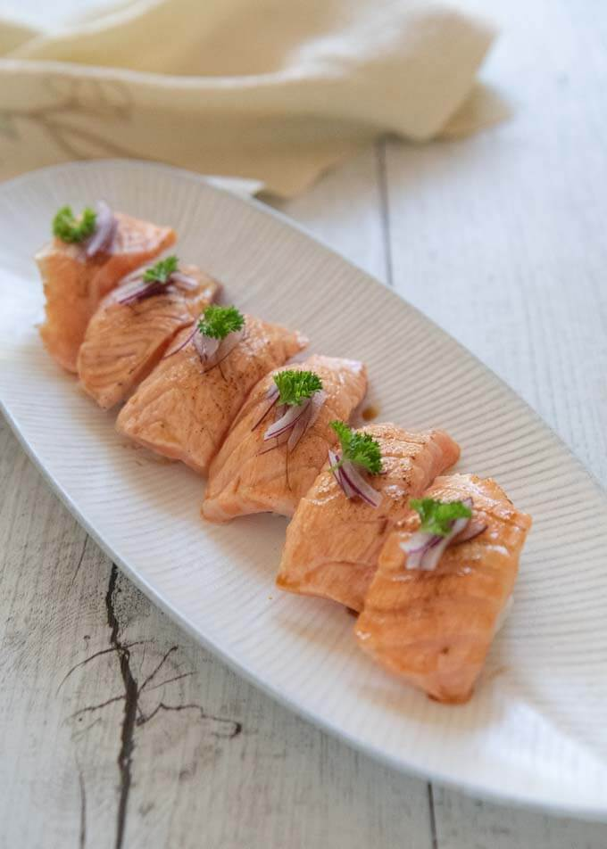 Seared Salmon Nigiri Aburi Salmon Recipetin Japan