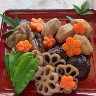Hero shot of Simmered Vegetables (Nishime).