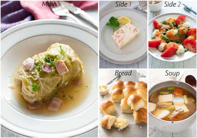 Meal idea with Scallop Terrine.