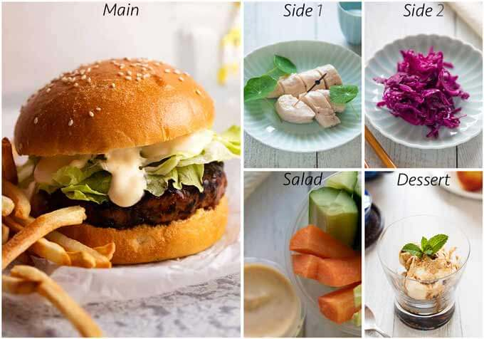 Meal idea with Copycat McDonald's Teriyaki Burger.