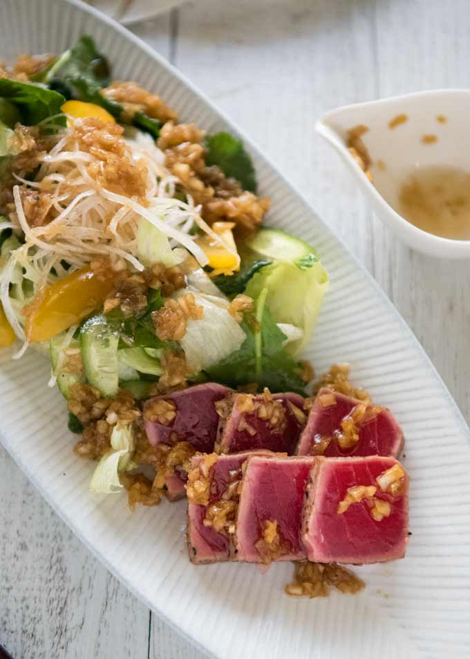 Tuna Sashimi salad after the