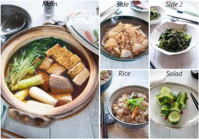 Meal idea with Negima Nabe.