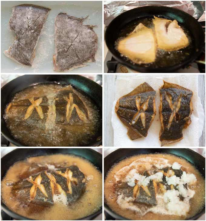Step-by-step photo of how to make Simmered Flounder in Grated Daikon.