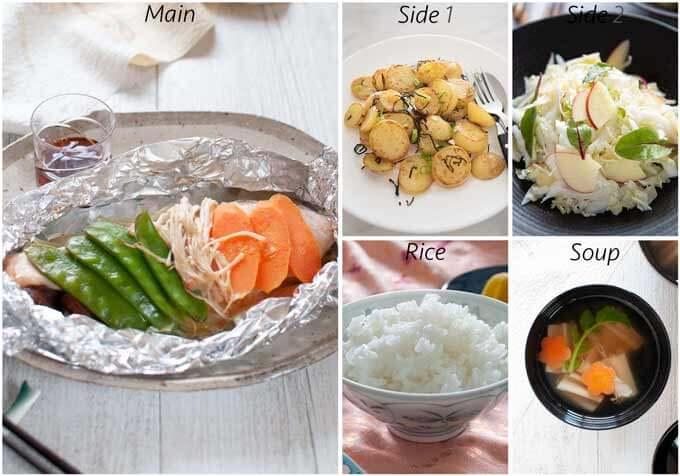 Meal idea with Sautéed Potato with Shio Konbu.