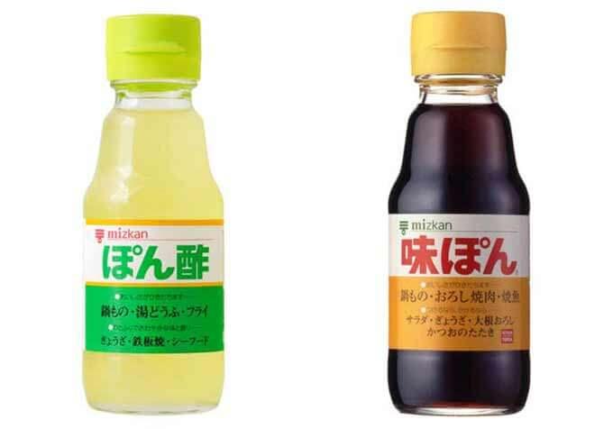 Mizkan brand ponzu and ajipon.