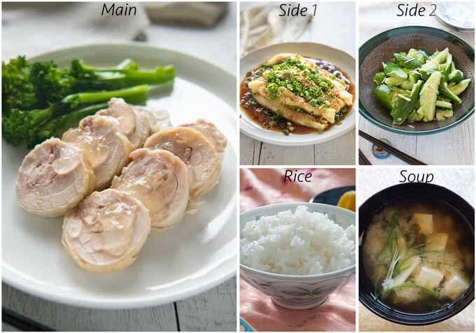Meal idea with Shrimp Flavoured Steamed Eggplant.