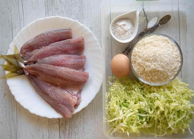 Ingredients for Deep-fried Horse Mackerel.