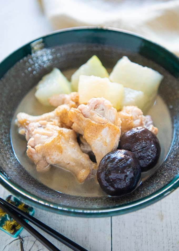 Hero shot of Simmered Winter Melon with Drumettes.