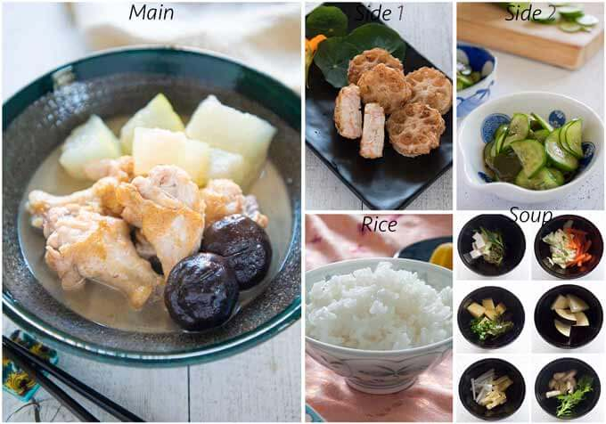 Meal idea with Simmered Winter Melon with Drumettes.